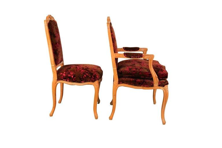 Louis XV Style French Provincial Century Furniture Dining Chairs For Sale 1