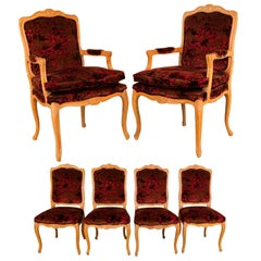Louis XV Style French Provincial Century Furniture Dining Chairs