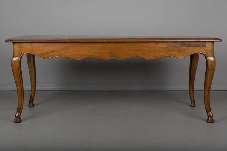 Hand-Crafted Louis XV Style French Walnut Table For Sale