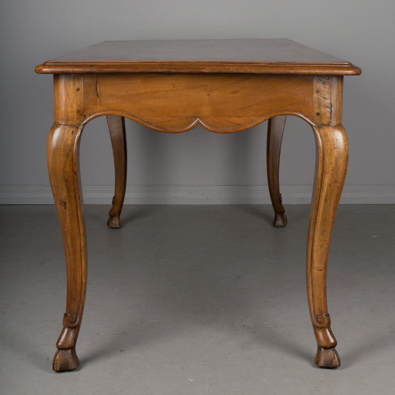 20th Century Louis XV Style French Walnut Table For Sale