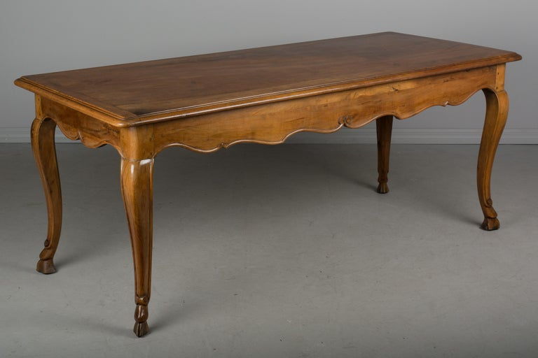 Louis XV Style French Walnut Table For Sale 2