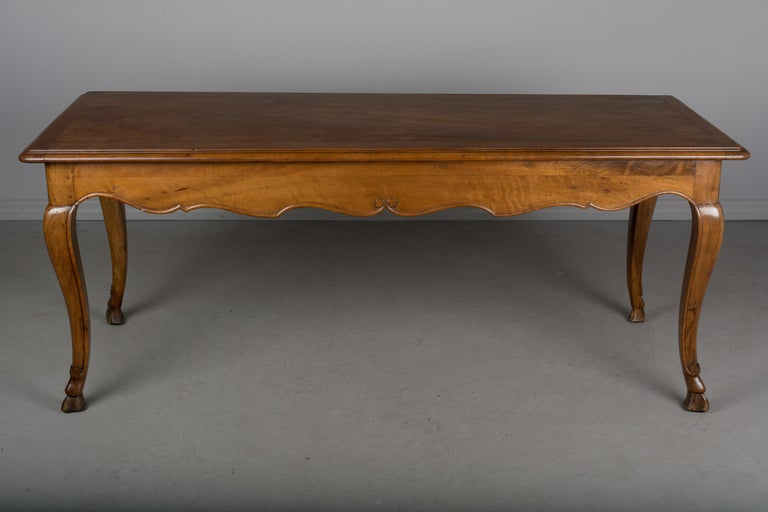 Louis XV Style French Walnut Table For Sale 3