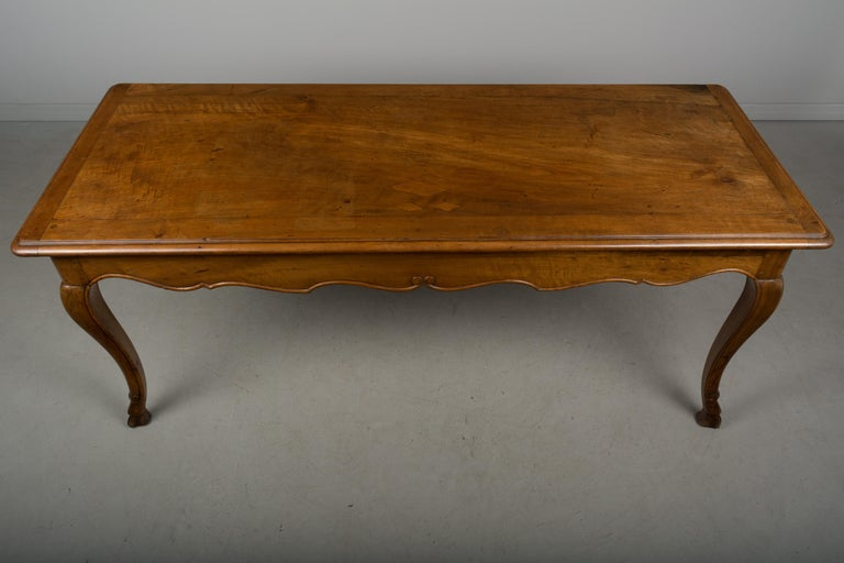 Louis XV Style French Walnut Table For Sale 4