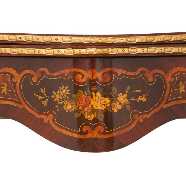 Louis XV Style Gilt Bronze and Marquetry Card Table In Excellent Condition For Sale In London, GB