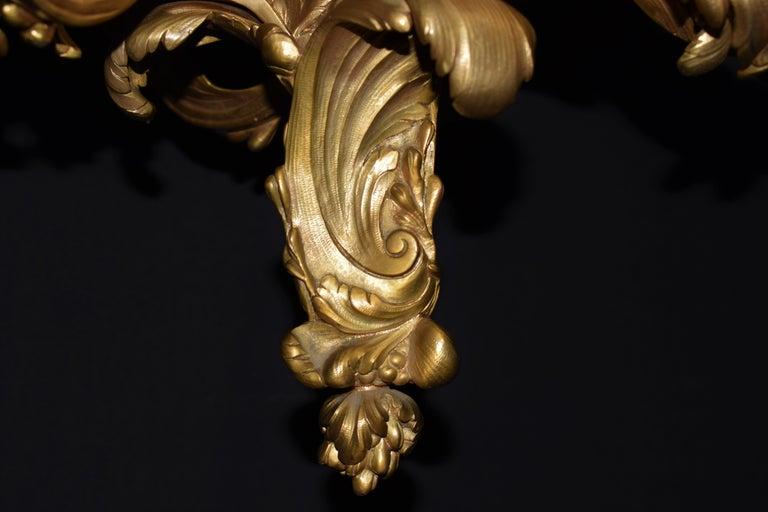 Louis XV Style Gilt Bronze Chandelier For Sale 1