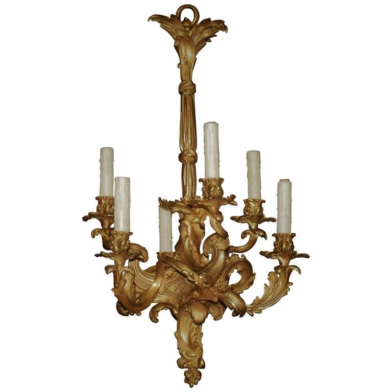 Louis XV Style Gilt Bronze Chandelier For Sale