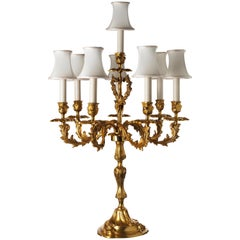 Louis XV Style Gilt Bronze Eight Lights Candelabra By Gherardo Degli Albizzi