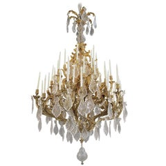 Louis XV Style Gilt Bronze Forty-Eight-Light Chandelier, circa 1885
