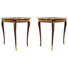 Louis XV Style Gilt Bronze Mounted Side Tables