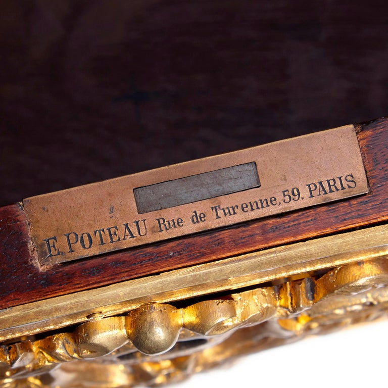 Louis XV Style Gilt Bronze Mounted Writing Desk by Poteau For Sale 1