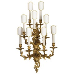 Louis XV Style Gilt Bronze Wall Sconce