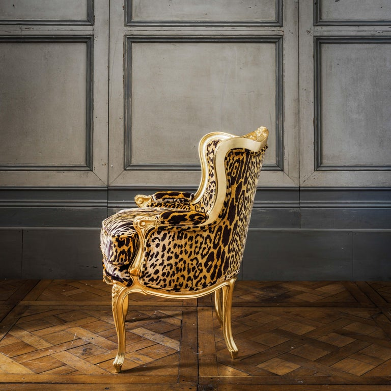 Louis XV Style Giltwood Duchesse Brissée, Chaise Longue & Pair of Chairs For Sale 9
