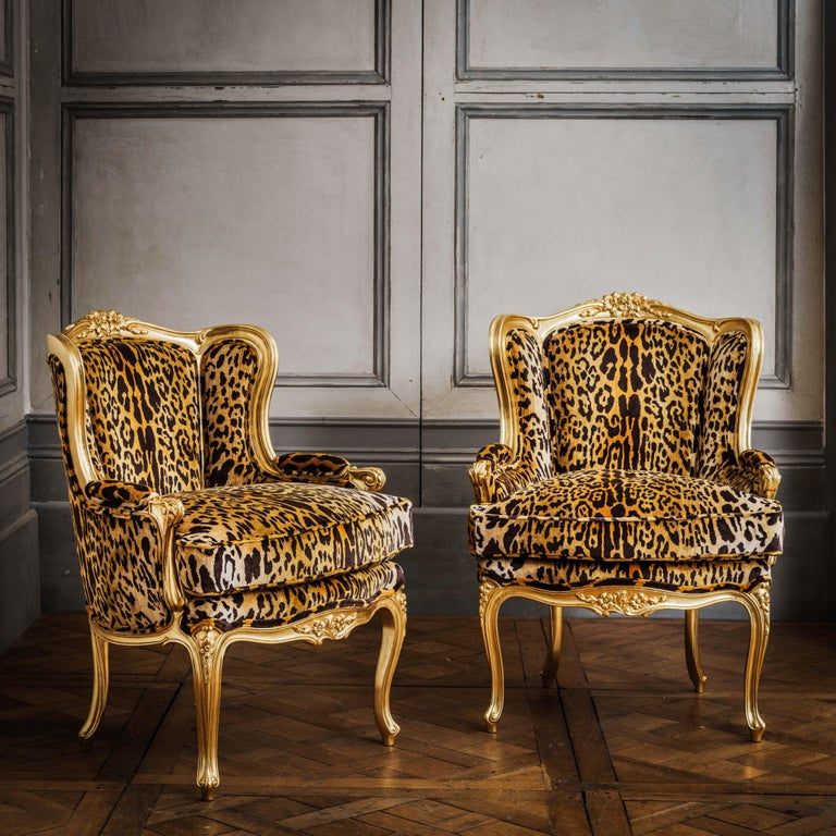 Louis XV Style Giltwood Duchesse Brissée, Chaise Longue & Pair of Chairs In Excellent Condition For Sale In London, GB
