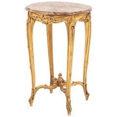 Louis XV Style Giltwood Pedestal Table, circa 1880