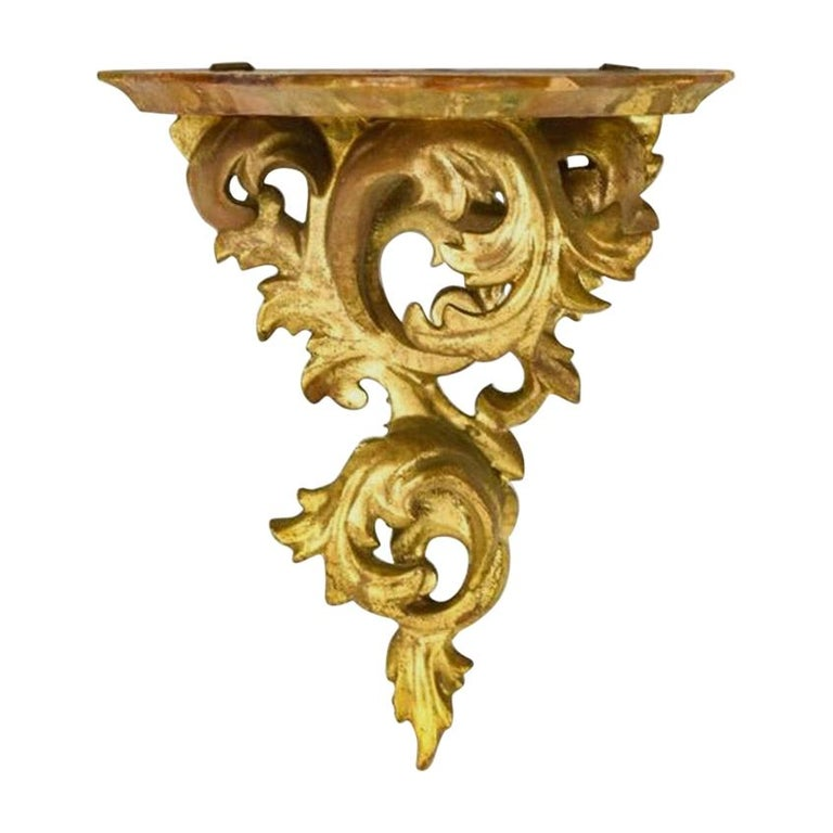Louis XV Style Giltwood Wall Bracket For Sale