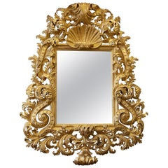 Large Louis XV Style Hand Carved Giltwood Mirror Made by La Maison London