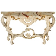 Louis XV Style Italian Painted Console