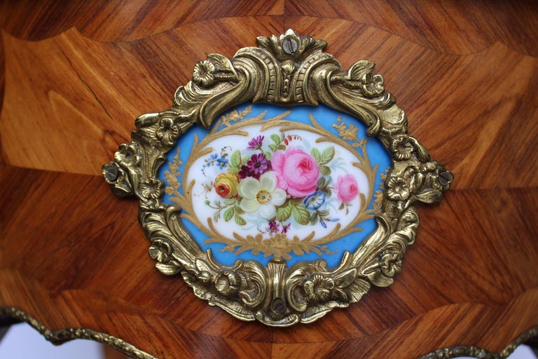Louis XV Style Jardinière with Sevres Porcelain For Sale 13