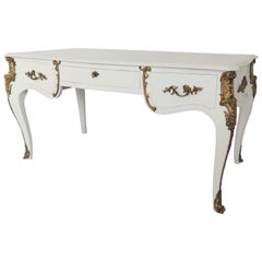 Louis XV Style Lacquered and Gilt Bronze-Mounted Bureau Plat