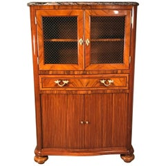 Louis XV Style Library Cabinet, France 19th Century, Walnut