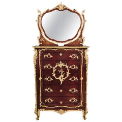Louis XV Style Mahogany Coiffeuse Attributed to François Linke, French