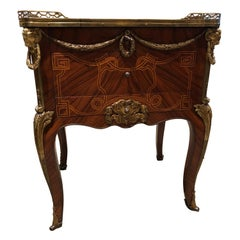 Louis XV Style Mahogany Commode/Secretary