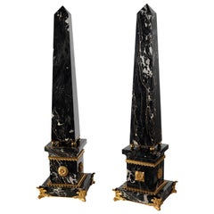 Louis XV Style Marble and Gilt Bronze Obelisk by Gherardo Degli Albizzi