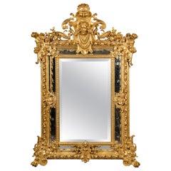 Louis XV Style Marginal-Frame Giltwood Mirror
