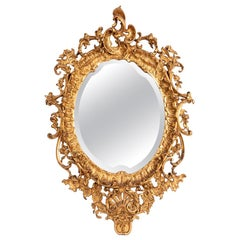 Louis XV Style Mirror in Giltwood, 19th Century