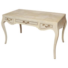 Louis XV Style Natural Stingray Shagreen Desk by Maitland Smith