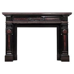 Louis XV Style Noir De Mazy Antique Fireplace