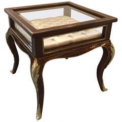 Louis XV Style Ormolu-Mounted Bijouterie  Vitrine Table