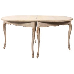 Louis XV Style Painted Demilune Table