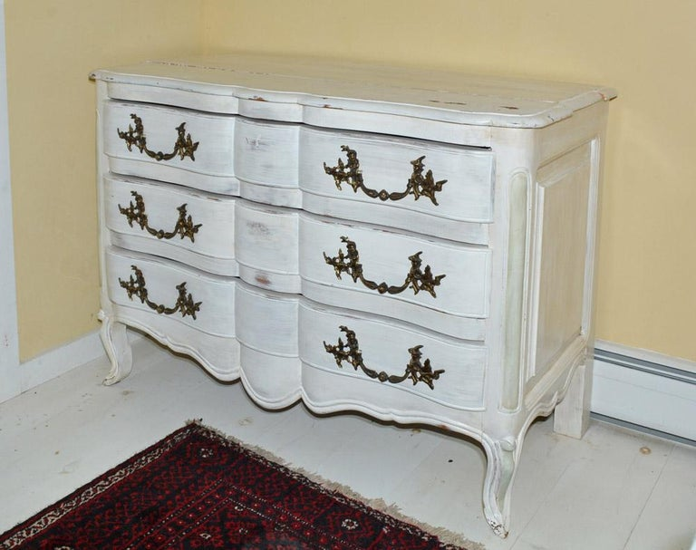 French Louis XV-Style Painted Dresser For Sale