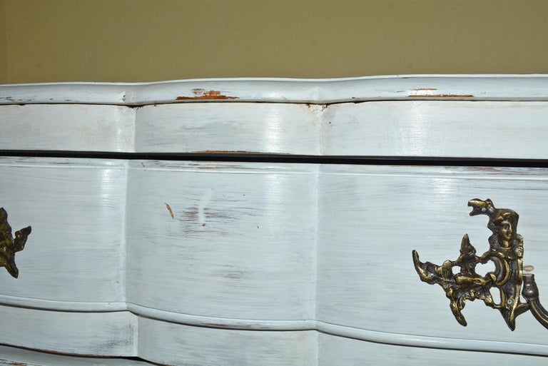 Louis XV-Style Painted Dresser For Sale 1
