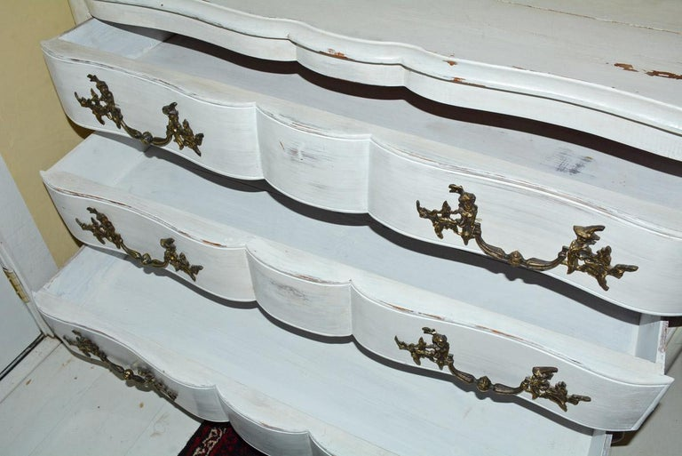 Louis XV-Style Painted Dresser For Sale 2