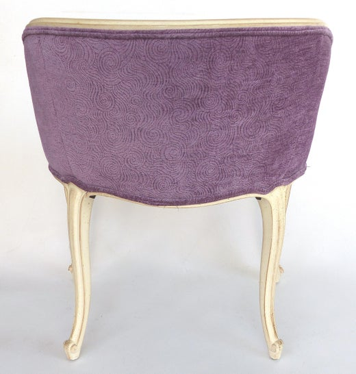 Magnificent Louis Xv Style Donghia Fabric Painted Vanity Stool Machost Co Dining Chair Design Ideas Machostcouk