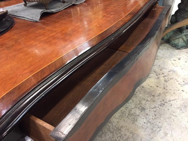 Louis XV Style Parquetry Kingwood Bureau Plat Desk, 19th Century For Sale 2