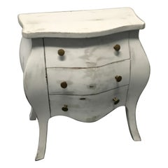 Louis XV Style Petite Painted Italian Commode / Side Table