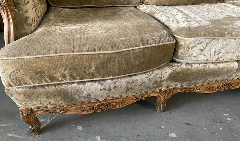 20th Century Louis XV Style Provincial Sofa For Sale
