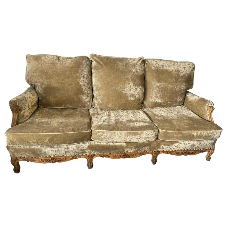Louis XV Style Provincial Sofa For Sale