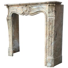 Louis XV Style Sarrancolin Marble Fireplace