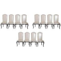Louis XV Style Set of 12 Dining Chairs