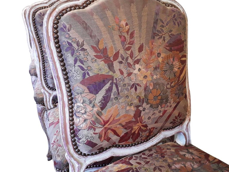 European Louis XV Style Set of 4 Chairs For Sale