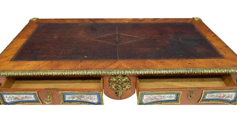 French Louis XV Style Sèvres Mounted Bureau Plat, 19th Century For Sale