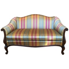 Louis XV Style Silk/Satin Stripe Settee