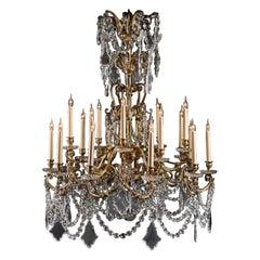 Louis XV Style Twenty-Light Chandelier by Baccarat
