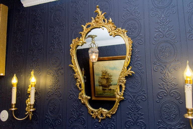 Louis XV Style Wall Mirror in Bronze For Sale 5