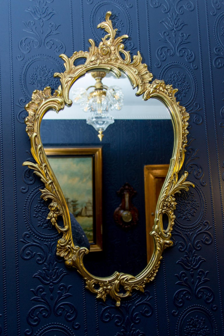 Louis XV Style Wall Mirror in Bronze For Sale 6