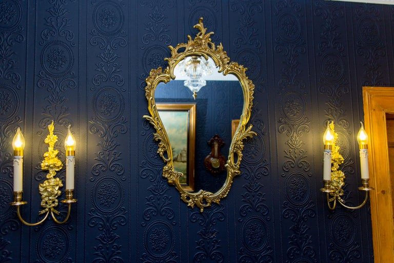 Louis XV Style Wall Mirror in Bronze For Sale 7